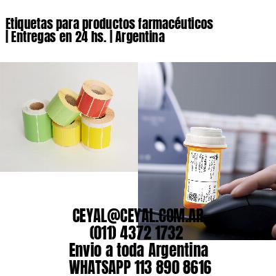 Etiquetas para productos farmacéuticos | Entregas en 24 hs. | Argentina