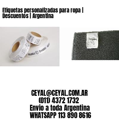 Etiquetas personalizadas para ropa | Descuentos | Argentina