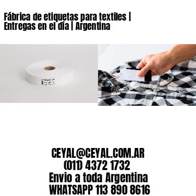 Fábrica de etiquetas para textiles | Entregas en el día | Argentina