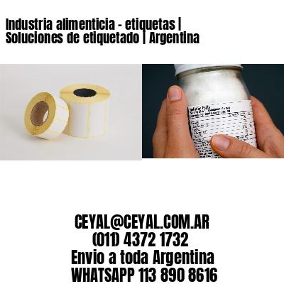 Industria alimenticia - etiquetas | Soluciones de etiquetado | Argentina