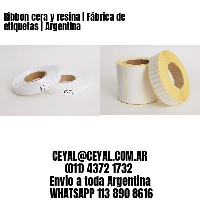 Ribbon cera y resina | Fábrica de etiquetas | Argentina