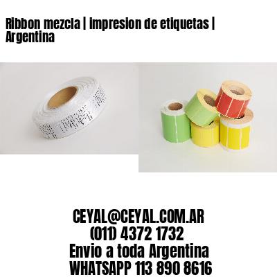 Ribbon mezcla | impresion de etiquetas | Argentina