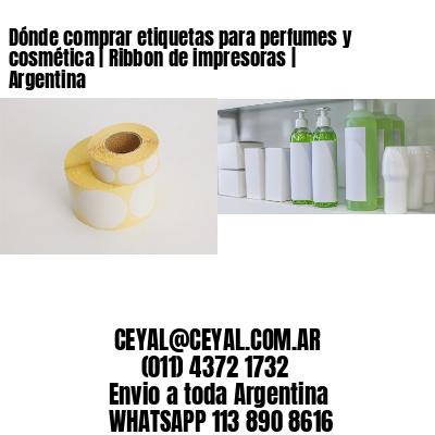 Dónde comprar etiquetas para perfumes y cosmética | Ribbon de impresoras | Argentina
