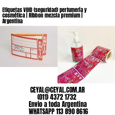 Etiquetas VOID (seguridad) perfumería y cosmética | Ribbon mezcla premium | Argentina