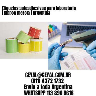 Etiquetas autoadhesivas para laboratorio | Ribbon mezcla | Argentina