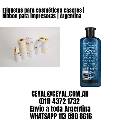 Etiquetas para cosméticos caseros | Ribbon para impresoras | Argentina