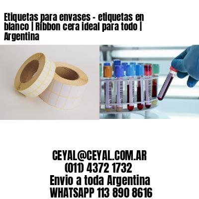 Etiquetas para envases - etiquetas en blanco | Ribbon cera ideal para todo | Argentina