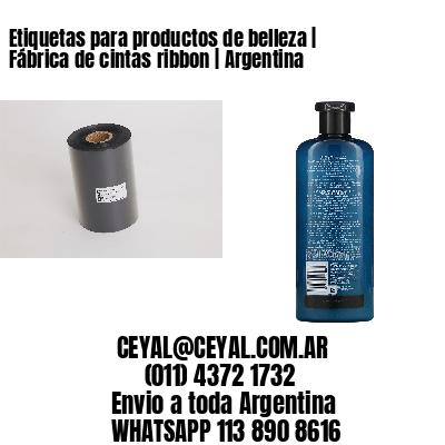Etiquetas para productos de belleza | Fábrica de cintas ribbon | Argentina