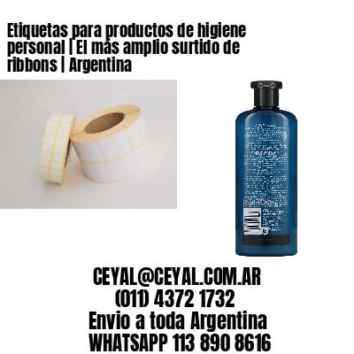 Etiquetas para productos de higiene personal | El más amplio surtido de ribbons | Argentina