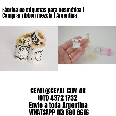 Fábrica de etiquetas para cosmética | Comprar ribbon mezcla | Argentina
