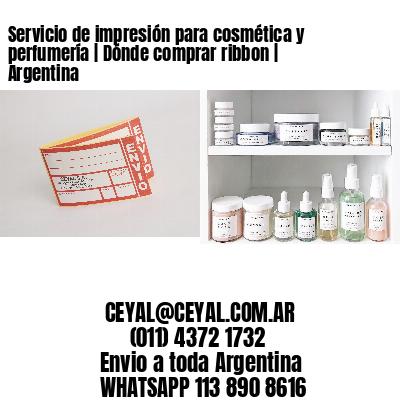 Servicio de impresión para cosmética y perfumería | Dónde comprar ribbon | Argentina