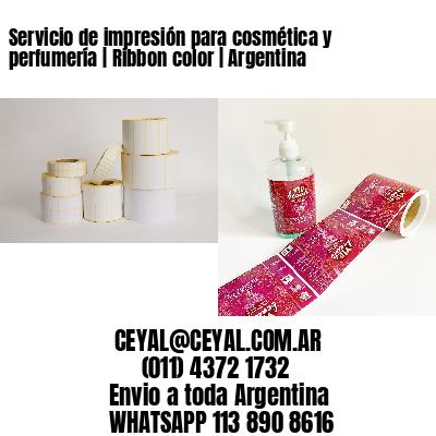 Servicio de impresión para cosmética y perfumería | Ribbon color | Argentina